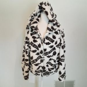 DEREON SUPER SOFT ZIPPERED AND HOODED JACKET